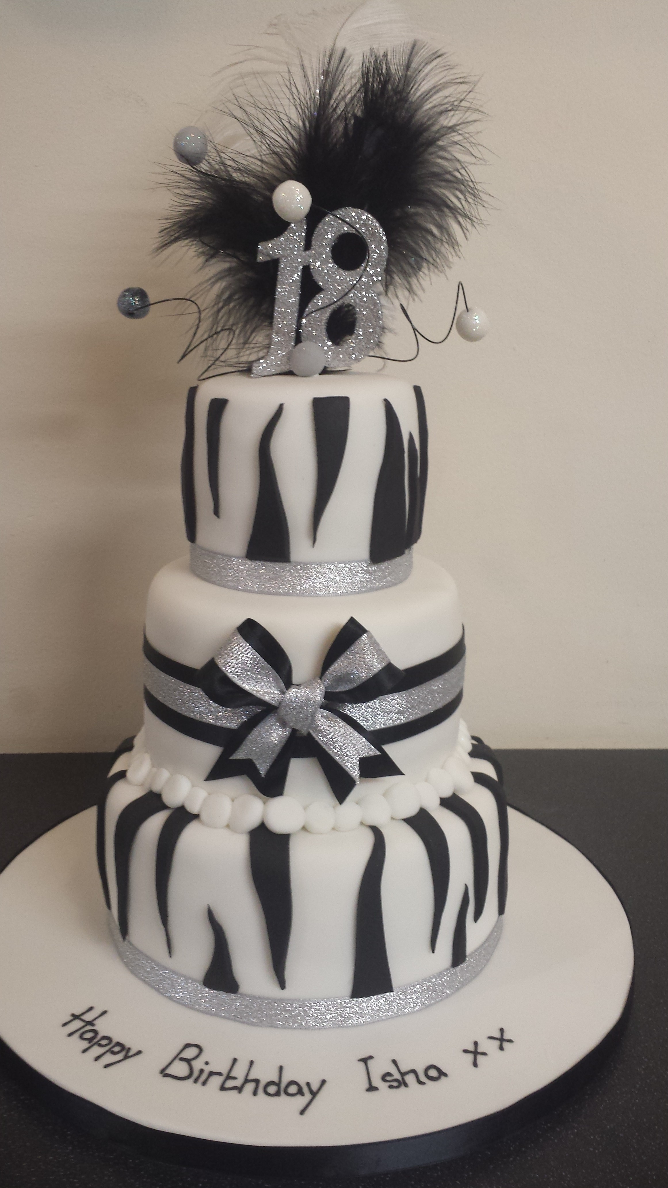 black white and silver zebra birthday cake loven cake